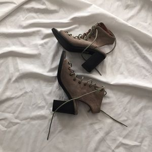 Jeffrey Campbell x Free People Suede Lace-Up Heels